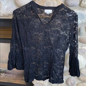 Adore lacy sheer blouse